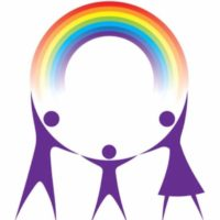 The Rainbow Therapy Practice - people and rainbow Logo