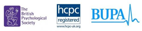 HCPC BPS and Bupa Psychologist Logo